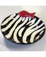 Food Bowl for Pets | Zebra | Handmade Plate for Pets