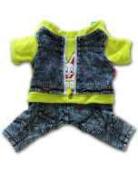 Dog Clothes | Jeans Overalls | Lime Rabbit