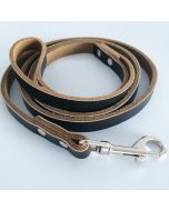 Dog Leash | Black & Brown leather Leash for Dogs
