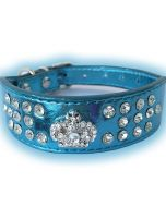 Dog Collar | Fairytale Prince Blue | Wider In Front Collar for Sensitive Dog Neck