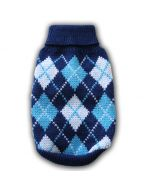 Dog Sweater, MurrBerry Classic Blue, Stylish and comfortable Classic Blue Plaid for Dogs, DiivaDog