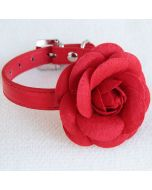 Red Rose Decorated collar | Collar for dogs and cats