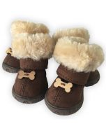 Dog Booties |Dog Winter Boots, Arctic Bones |Warm Shoes for Dogs |Cute Bone Decoration