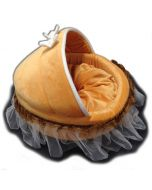 Dog Bed | Cat Bed | Orange Seashell | 3 Sizes