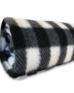 Nap Blanket Fleece Black White Checkered | DiivaDog.com