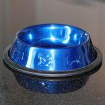 Food Bowl for Pets |Metallic Blue |Diameter 16 cm