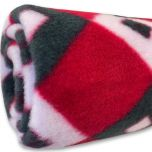 Fleece Nap Blanket Sweet Red Diamond | DiivaDog.com