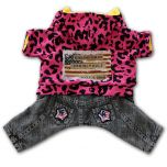 Dog Clothes |Dog Overalls |Pink Leopard
