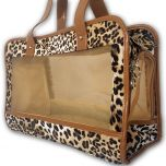 Pet Carrier | Leopard | For Small Dog or Cat