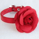 Red Rose Decorated collar |Collar for dogs and cats