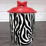 Handmade Snack Jar | Zebra