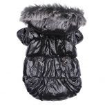 Dog Quilted Jacket  Heavy Metal Black