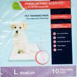 Pheromones scented Pet pads 60 x 60 cm disposable, 10 pcs/ bag
