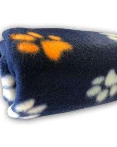 Dog Fleece | Nap Blanket | My Paws Blue