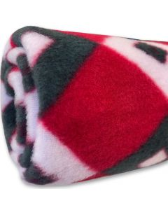 Fleece Nap Blanket Sweet Red Diamond | DiivaDog.com