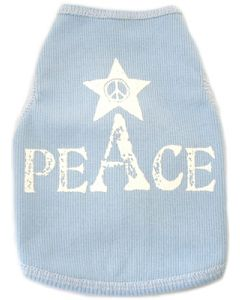 Dog Tak Top | Peace | Light Blue