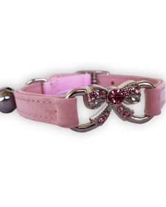 Cat Collar Rose Bow Diamond | Soft Velvet Material
