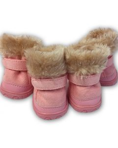Dog Winter Boots Arctic Pink | Warm Dog Shoes | Protective Pet Booties
