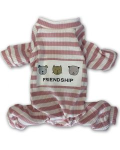 Lovely striped rose Pajamas Jumpsuit for small dogs