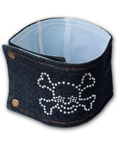 Dog Hygiene | Diamond Skull Jeans | Male Dog Belly Wrap