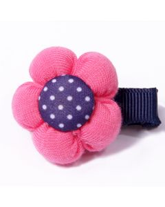 Dog hair jewelry | pink flower | with clips | DiivaDog.com