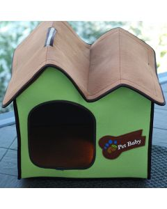 Dog Bed |Cat Bed | Villa Dog Lime Avantgarde |Small House for Dog or Cat