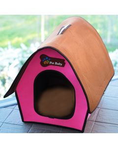 Dog Bed | Cat Bed | Villa Pet Pink Swiss Cottage| Bed for Dogs | Bed for Cats