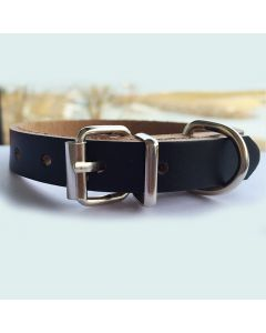 Pet Collar | Mini Leather Black Minimalistic | Collar for Small Pets