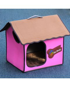 Dog Bed, Dog House, Villa Dog Pink Classic for dog or cat, DiivaDog
