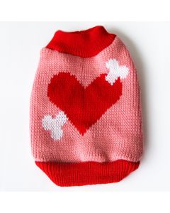 Dog Sweater LoveBone Cupido Pink, DiivaDog