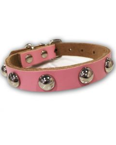 Dog Collar | Cat Collar | Soft Leather Rose Rivet Collar