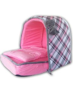 Dog Bed   Cat Bed   Pink Pet's Den   Cute Bed for Dogs or Cats   Sweet Dreams   2 Sizes