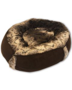 Dog Bed |Cat Bed |Luxury Chocolate Brown Nest Bed |Bed for Dogs |Bed for Cats |Warm and Soft Pet Bed