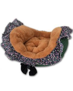 Pet Bed Green FlowerFrill