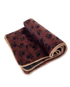 Dog Bed | Royal Gold & Brown Sleeping Bad for Dogs | Paw Pattern | Bed for Dogs