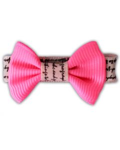 Pink Loveletter | Dog Bow tie with clips | DiivaDog.com