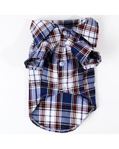 Dogs Blue Checked Shirt Rauff Loren | DiivaDog.com