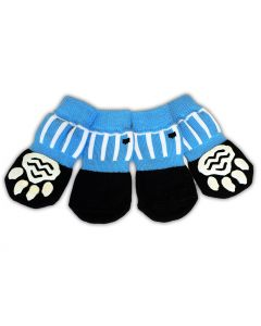 Anti-Slip Dog Socks | Blue Ball Game Socks