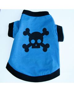 Dog T-Shirt Skull Blue | Back | DiivaDog.com