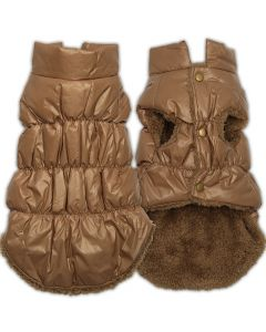 Dog Quilted Vest | Caramel Fudge
