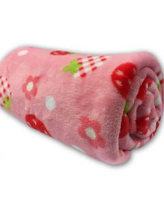 Plush Blanket Strawberry for Your Puppy