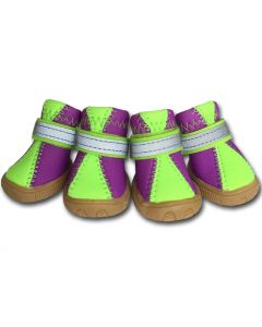 Dog Boots | Lime & Purple Neoprene | Wet Weather Boots for Dogs