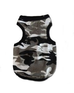 Urban Camo | Black Shirt For Dogs