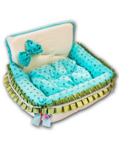 Dog Bed |Turquoise Dream |Small Dog Supplies