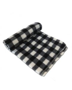 Dog Nap Blanket | Black White Checkered Blanket | Pet Sleeping Mat