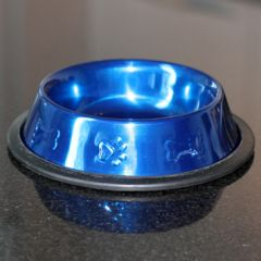 Food Bowl for Pets | Metallic Blue | Diameter 16 cm