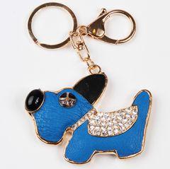 Charm Avaimenperä Koru Sininen Koira, pituus n. 12cm, DiivaDog