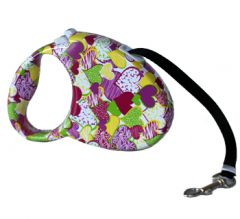 Dog Leash | Cat Leash | Heart Flower Retractrable Leash