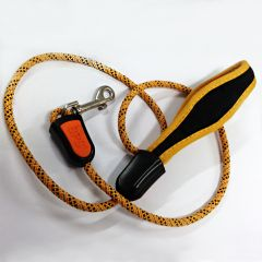 Dog Leash |Yellow Neoprene Leash for Dogs |Braided Dog Leash