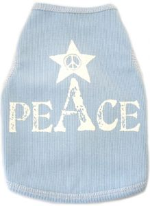 Dog Tak Top |Peace |Light Blue